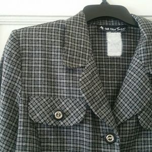 Vtg. Casual Plaid Jacket